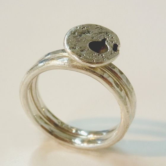 Sterling Silver ring duo by ntm. jewellery
