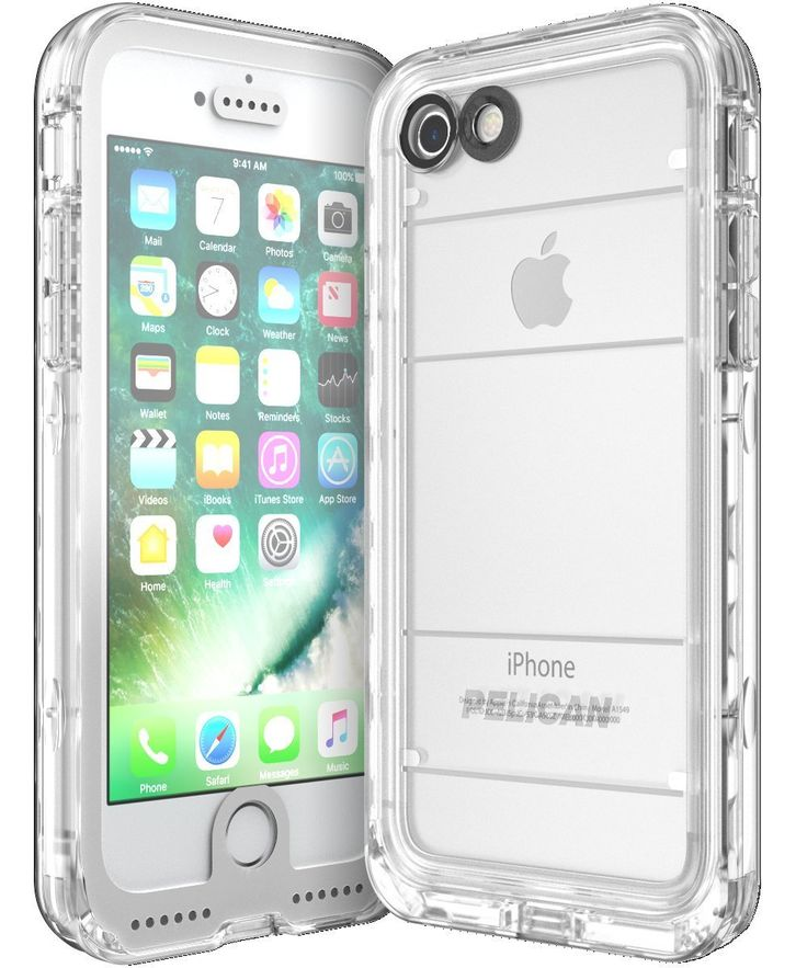 Amazon.com: Pelican Marine Waterproof Case for iPhone 7 - White/clear: Cell Phones & Accessories
