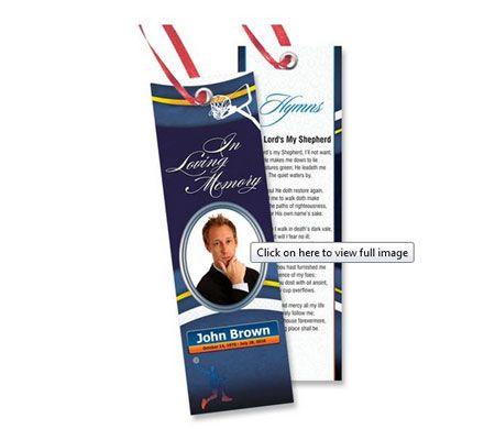 memorial bookmark templates free downloads bookmark. Black Bedroom Furniture Sets. Home Design Ideas