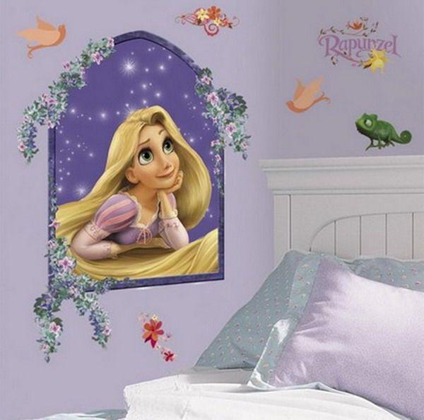 Disney Princess Bedroom | Princess Rapunzel Mural Bedroom Optimized Fairy  Princess Wall Mural .