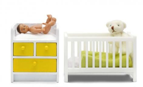 Stockholm 2015 Cot Change Table and Baby Set by Lundby