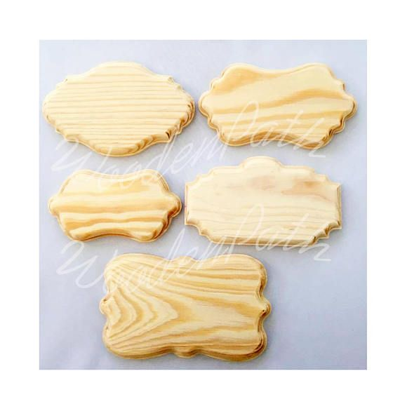 Unfinished Beveled Carved Edge Solid Wood Plaques Plain