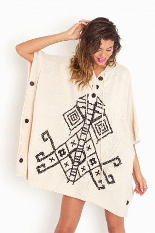 Bolivia knit poncho