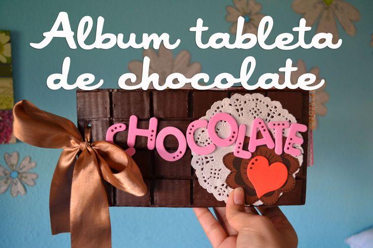Regalo original. Album tableta de chocolate (tutorial)