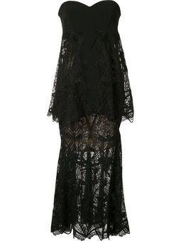 многослойное платье без бретелек