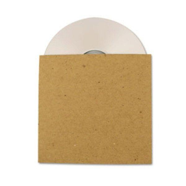 100 Brown Recycled Kraft Card CD Sleeves/Wallets Brand New