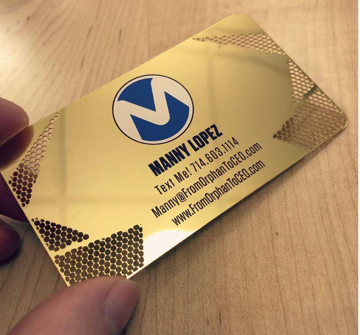 7 best metal business cards images on pinterest metal business gold metal business card reheart Choice Image