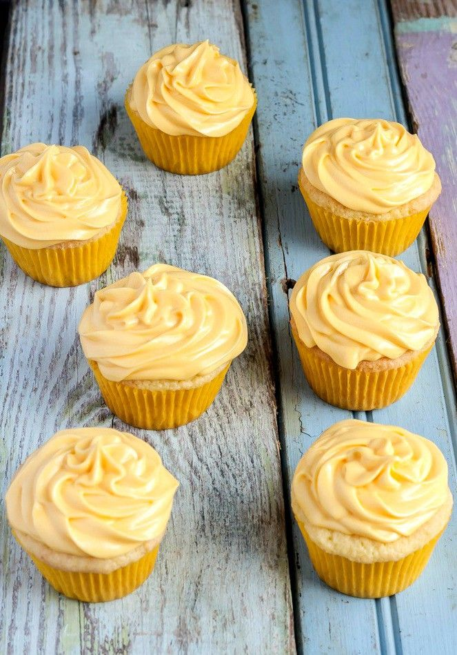 Easy Gluten Free Lemon Cupcakes from scratch, no mess, no fuss, all ingredients mixed in one bowl!