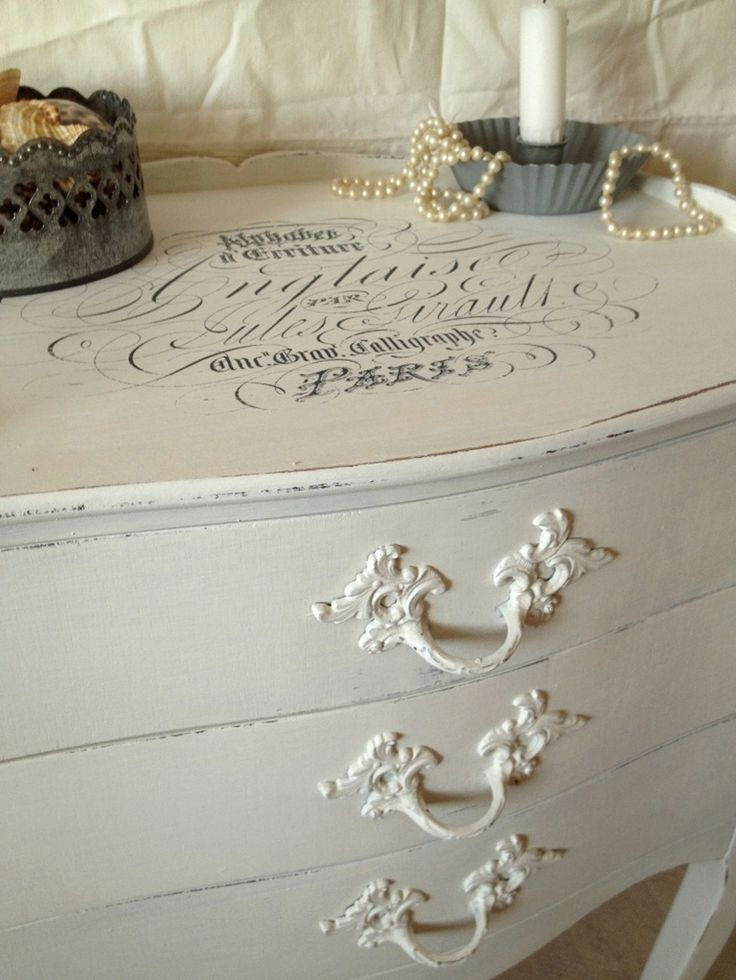 Shabby Chic - I have a new/old dresser that this would be perfect to do on