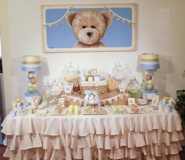 Hostess With The Mostess®   Teddy Bear Canvas Baby Shower