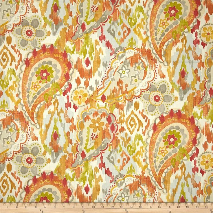 Lovely Swavelle/Mill Creek Ardina Paisley Twill Garden From @fabricdotcom Screen  Printed On Cotton Twill