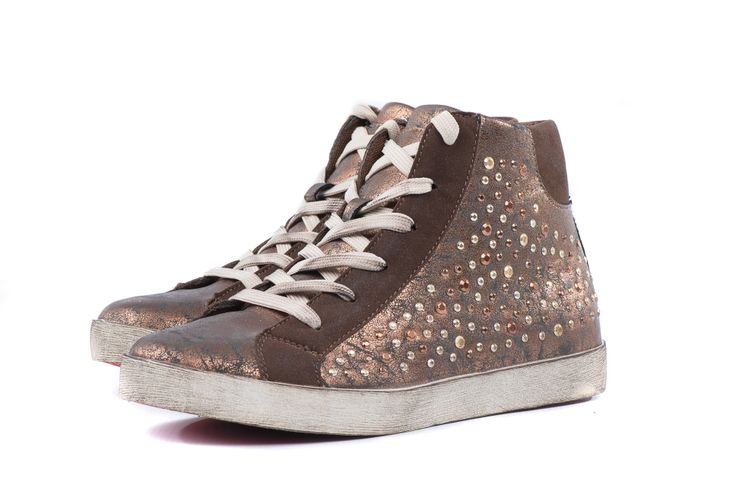 Rose gold studded sneaker at #Nicci