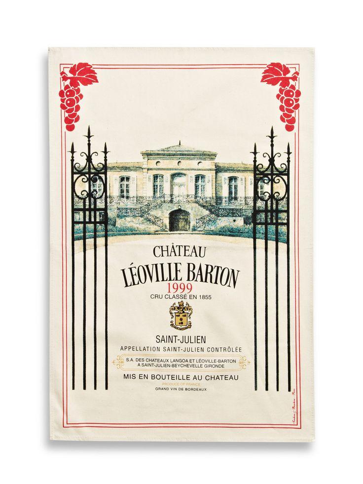 Leoville Barton Bordeaux Tea Towel by Torchons & Bouchons at Gilt