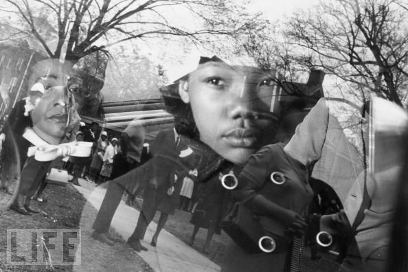 Coretta Scott King, with her daughter Yolanda, arrives at MLK's funeral in Atlanta, 1968. She would serve as the civil rights movement's conscience for another four decades.