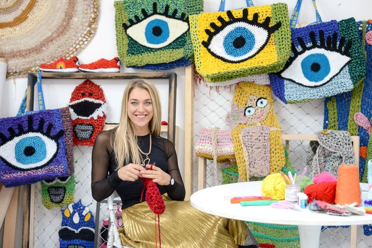 The clients for London Kaye, a crochet artist, have included Starbucks, Miller Lite, Valentino, Gap and Progressive car insurance.