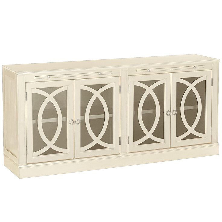 Biblioteca TV Stand - Antique White - Glass - 23 Best *Media Storage > Media Cabinets* Images On Pinterest Tv