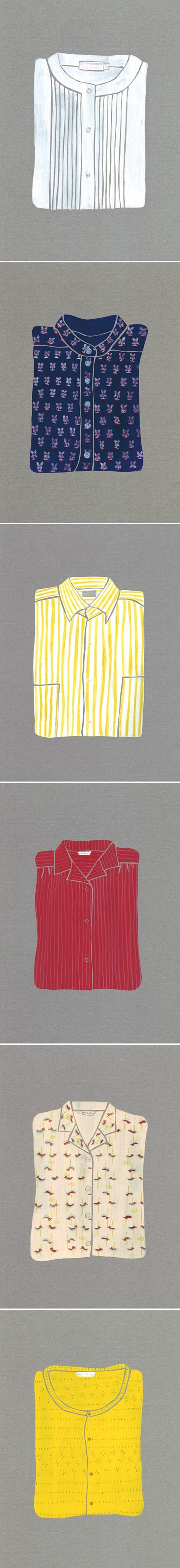 Kubo Ayako via thejealouscurator: I want these all to be real shirts and to be in my closet, please. #Illustration