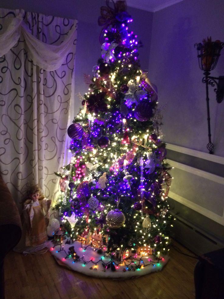 My Purple Christmas Tree 2014 Purple Christmas Purple