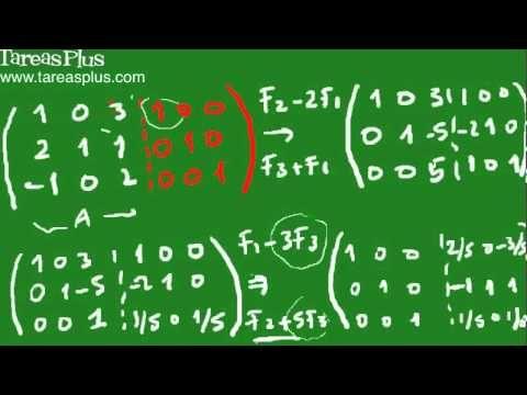 Encontrar la Inversa de una matriz por medio del método Gauss-Jordan #AlgebraLineal #Gauss_Jordan #Matriz_Inversa