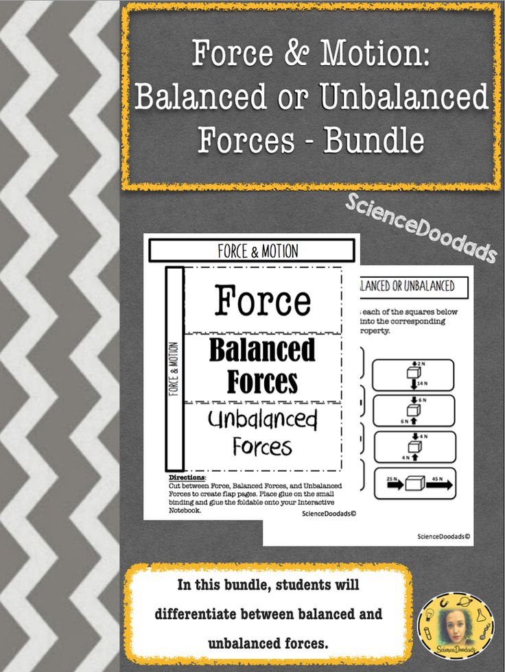Balanced and unbalanced forces bundle force activities