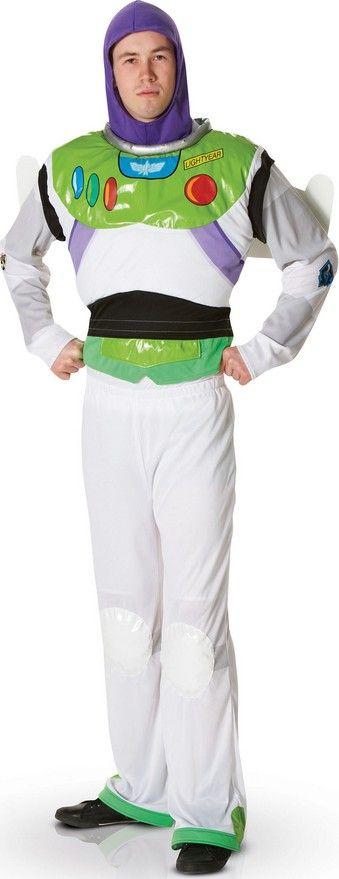 Déguisement Buzz Disney Pixar™ homme : Ce déguisement officiel de Buzz l'éclair™ pour homme comprend 5 éléments : Un maillot avec thorax rembourré, une paire d'ailes de fusée...