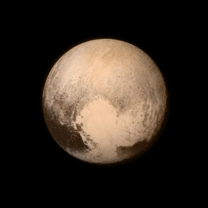 14.07.2015, 1349 MEZ, newest real Foto of Pluto!