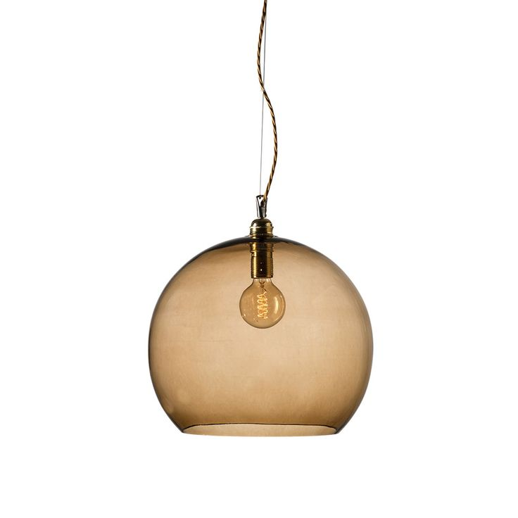 Discover the Ebb & Flow Rowan Pendant Lamp - Chestnut Brown - 39cm at Amara