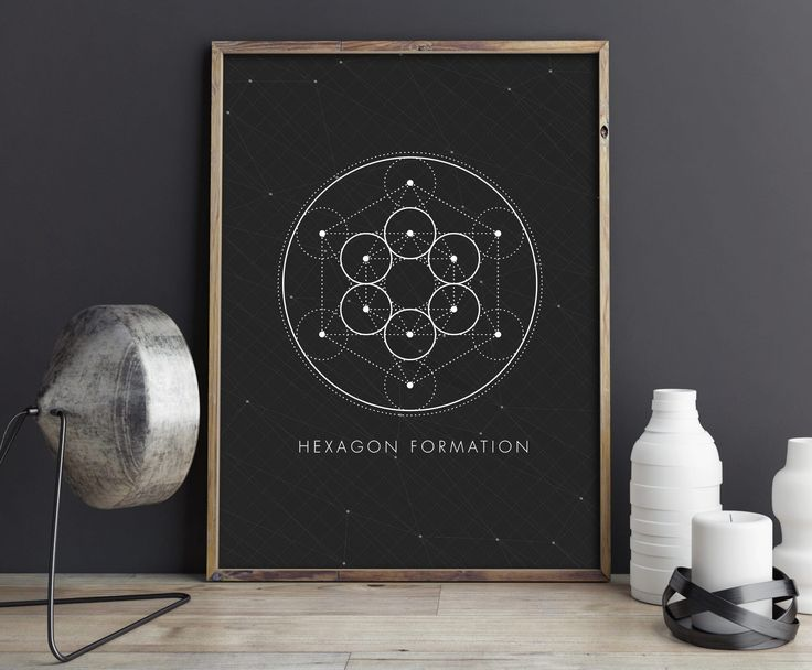 Sacred Geometry, Wall Art, Hexagon Formation