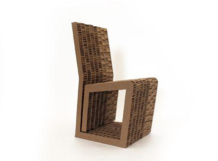 Sedia di cartone per bambini dal design flat in cartone nidopan