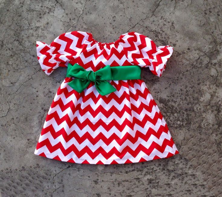 Baby girl Christmas outfit, toddler girl Christmas dresses, Red chevron Christmas dress, baby girl clothes, toddler girl outfits