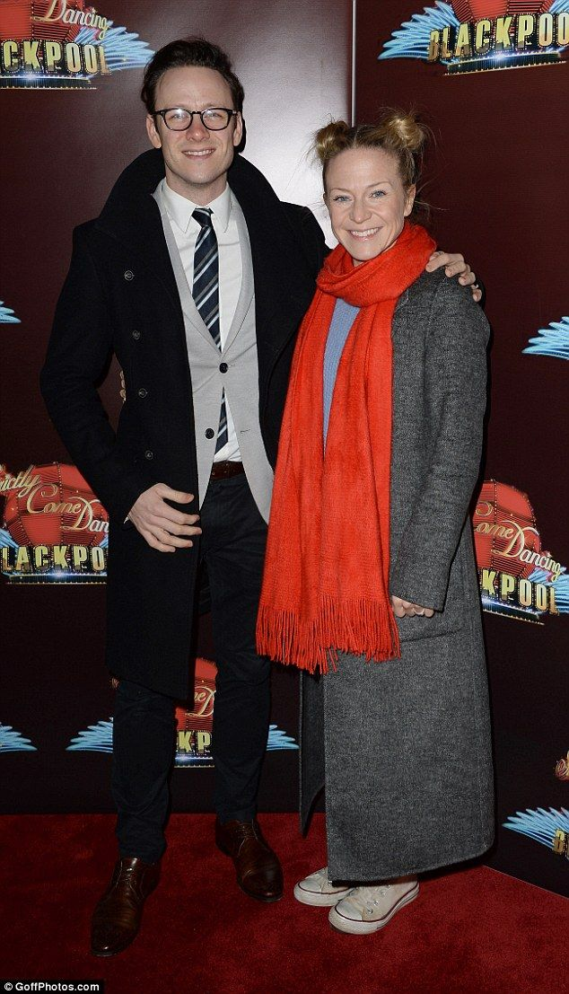 Ready for another dance:Kevin Clifton and his partner Kellie Bright were raring to go...