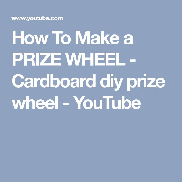 how to make a prize wheel out of cardboard
