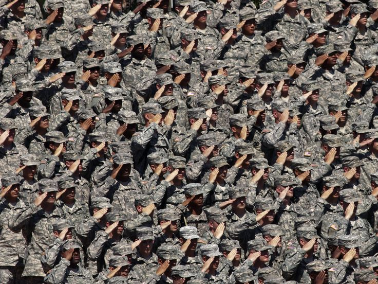 Troops in salute | Image source: Wired.com