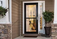 Self-Storing Full-View Doors