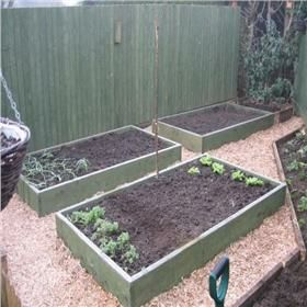 Raised Garden Beds Tanalised Timber - 1.8m (6ft) x 1.2m (4ft)