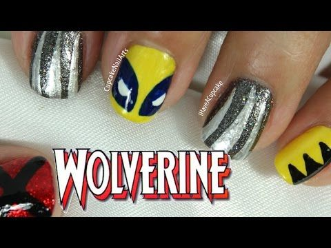 Wolverine Nail Art - http://art-press.co/wolverine-nail-art/