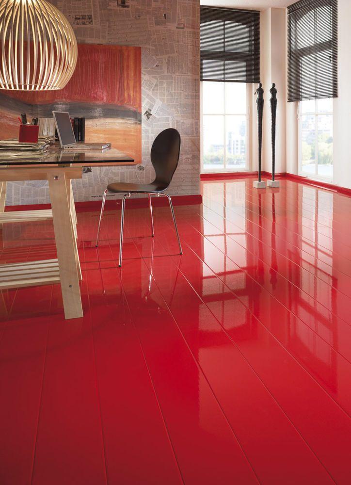17 migliori idee su pavimento rosso su pinterest mobili - Pavimento laminato in bagno ...