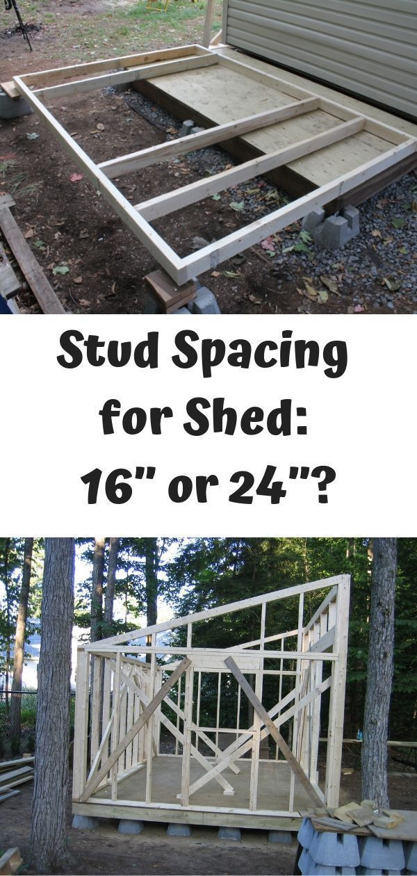 Stud Spacing For Shed 16 Or 24 On Center Which Is Better Flat Roof Shed Shed Plans Building A Shed