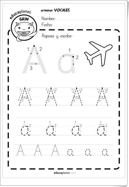 Fichas de escritura vocales de eva barcel y publicado for Aeiou el jardin de clarilu mp3