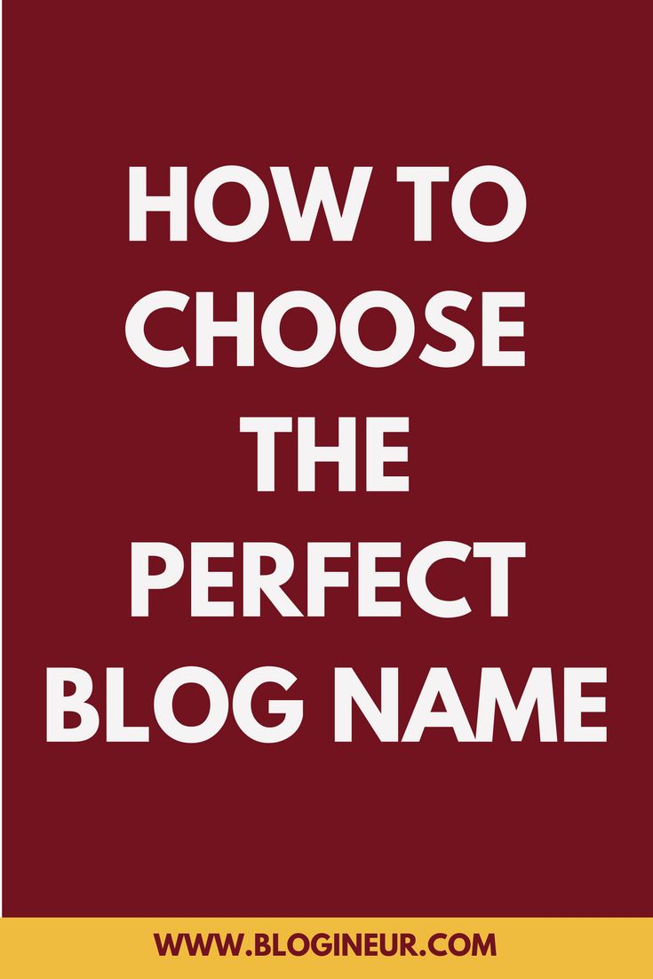 Need help in deciding what your blog name will be? Check out the tips in this post on how you can choose the perfect blog name. #blog #blogging #blogger #blogname
