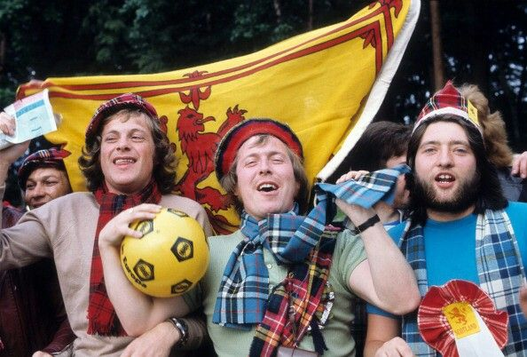 Scotland fans at the 1974 World Cup in West Germany.