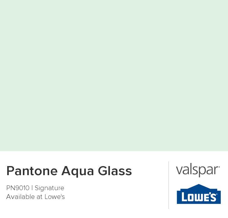 Pantone aqua glass from valspar paint color i like for Valspar kitchen and bath paint