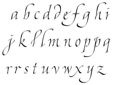 calligraphie, chancelière fine, alphabets, lettres, stages et cours, mail-art, enveloppes calligraphies, logos, calligraphy