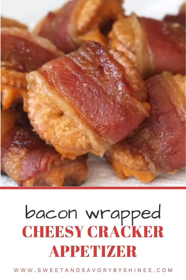 Easy Party Snacks, Easy Make Ahead Appetizers, Bacon Wrapped Appetizers, Best Appetizer Recipes, Finger Food Appetizers, Bacon Recipes, Yummy Appetizers, Cooking Recipes, Bacon Food