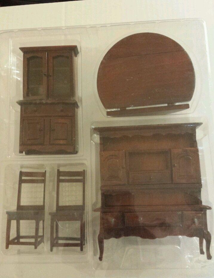 American Classics 5 PC Dollhouse Furniture Dining Room Set Real Wood | eBay