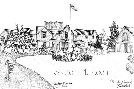 Architectural Sketch: 105 6th St. , Garden City, New York