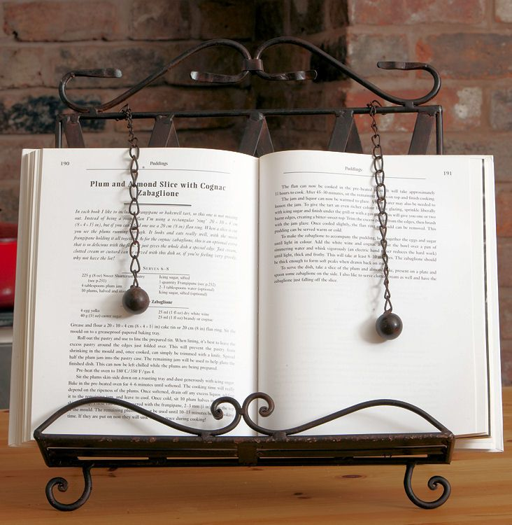 Ornate Metal Cook Book/Recipe Stand Holder | Food & Drink