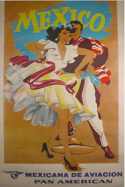 PanAm travel poster for Mexico