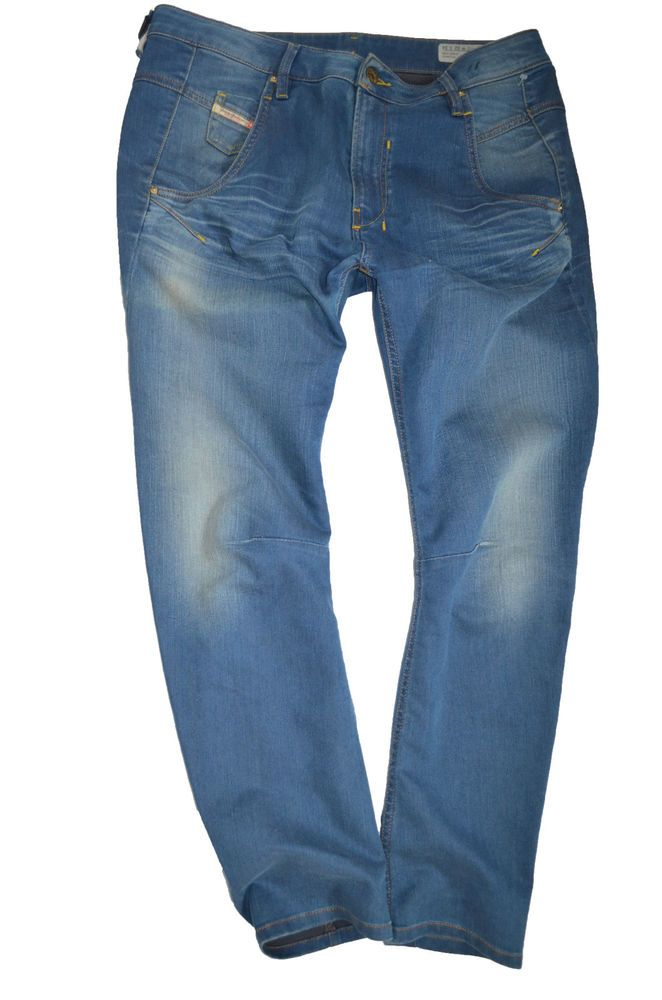 NEW Ladies DIESEL FAYZA 0885I BOYFRIEND JEANS womans size W32 L34 uk 14 34leg