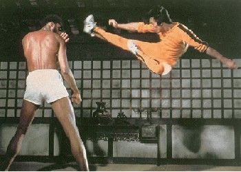 Bruce Lee and Kareem Abdul Jabbar in Game of Death